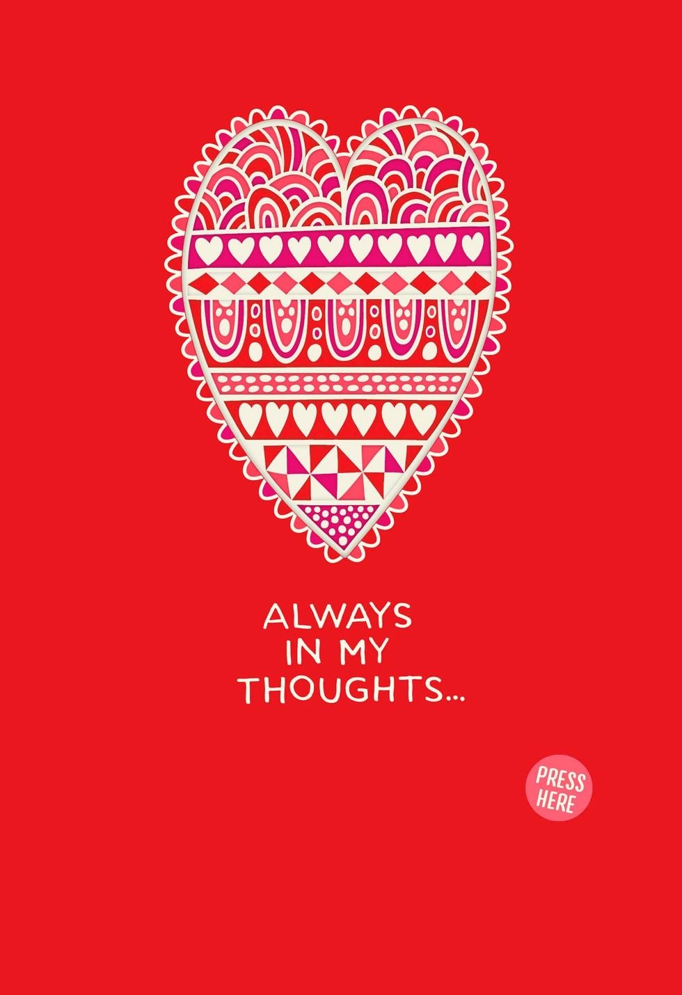 Always In My Heart Musical Valentines Day Card Greeting Cards