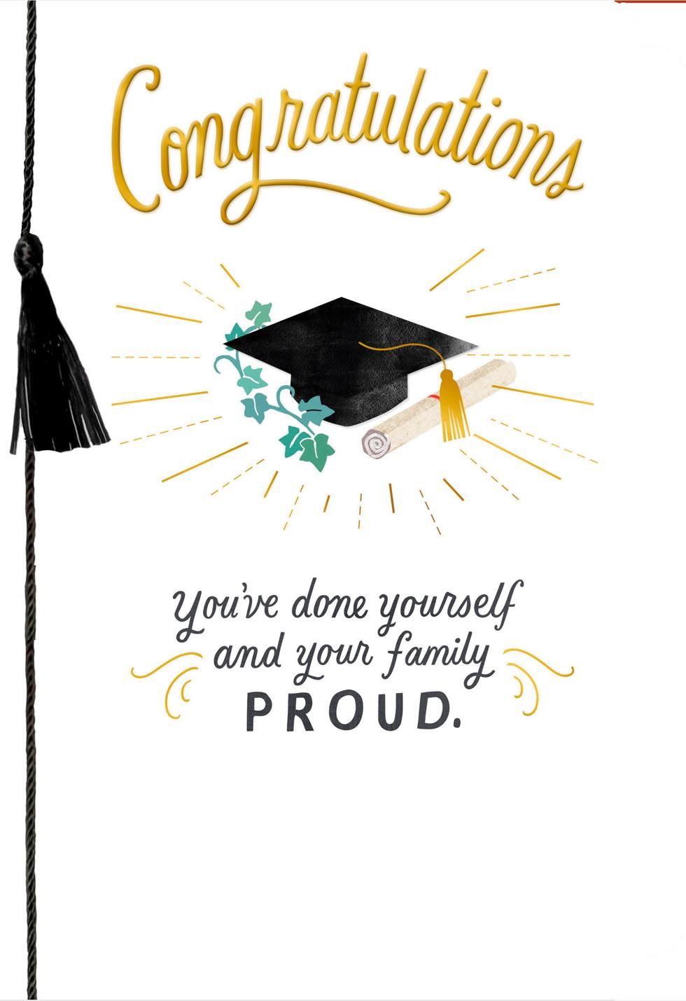 you make the family proud graduation card
