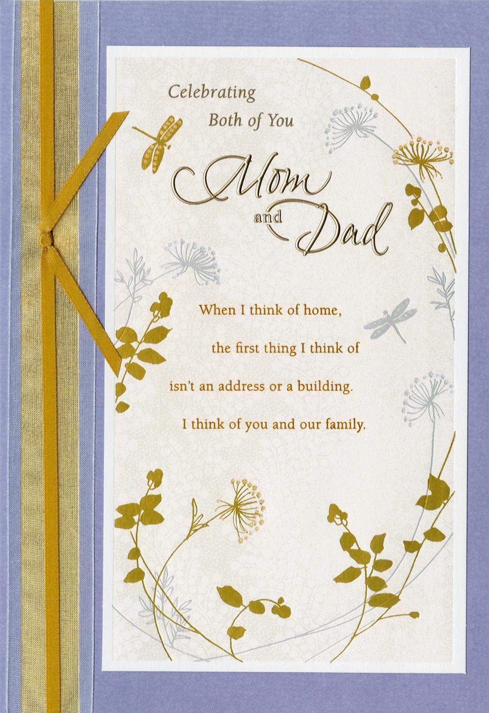 Celebrating Both Of You Anniversary Card For Parents