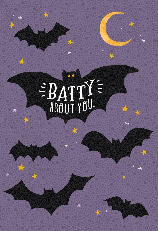 batty about you halloween card greeting cards hallmark