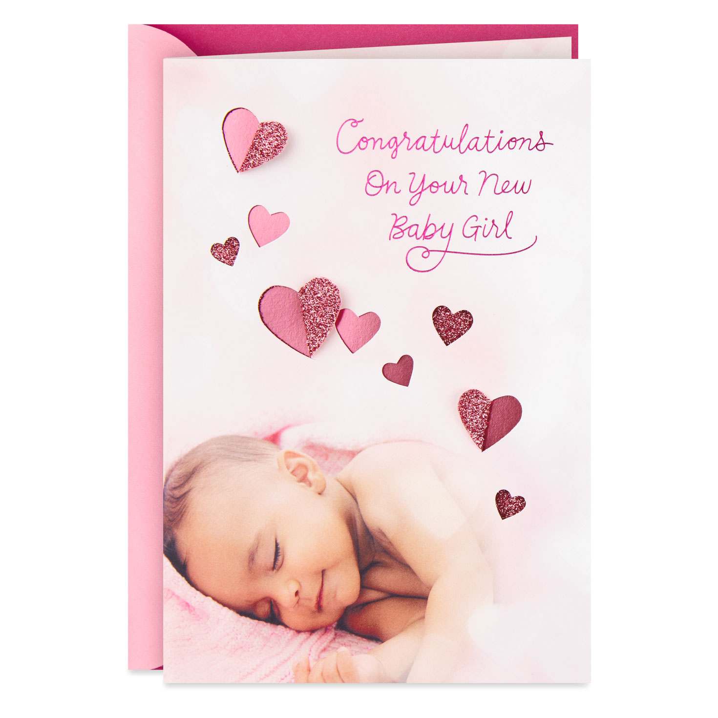 beautiful blessing new baby girl card  greeting cards