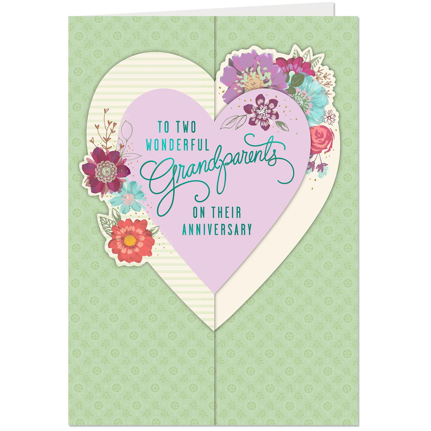 Two Wonderful Grandparents Anniversary Card Greeting Cards Hallmark