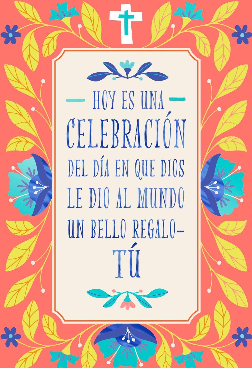 A Wonderful Woman Spanish Language Religious Birthday Card