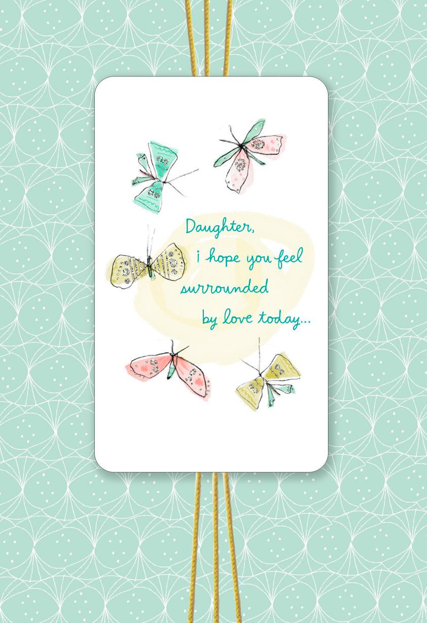 Surrounded By Love Birthday Card For Daughter Greeting
