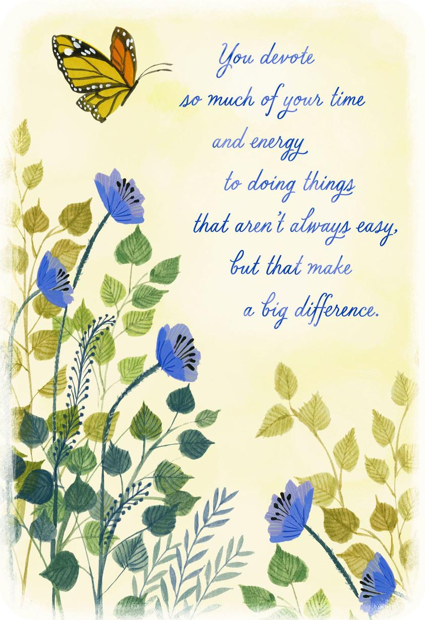 You Make A Big Difference Thank You Card