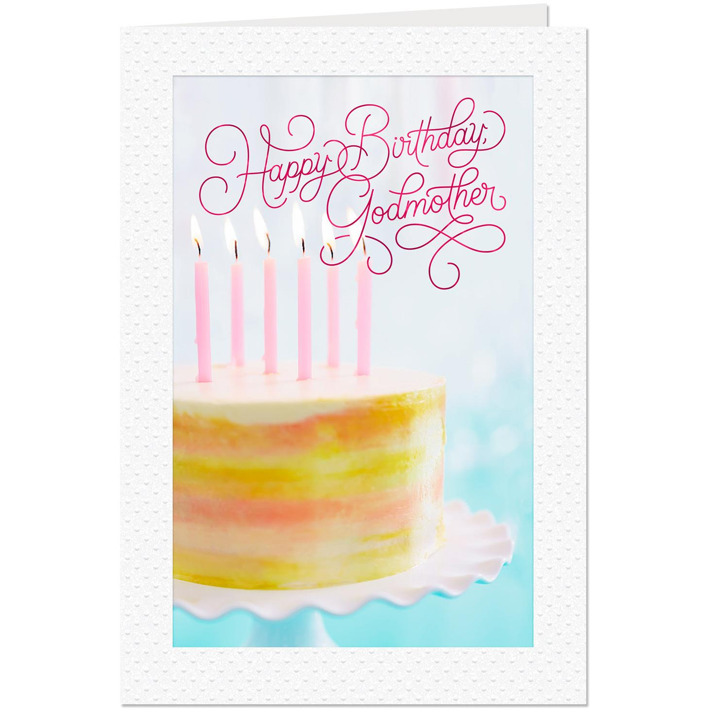 So Thankful For You Birthday Card For Godmother Greeting Cards