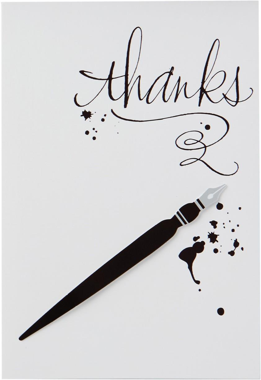 Calligraphy Pen Thank You Card Greeting Cards Hallmark