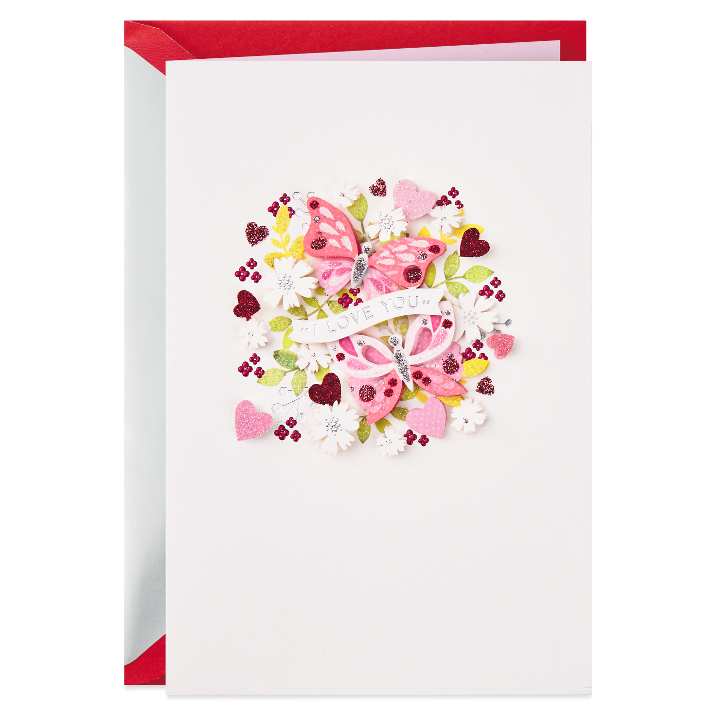 Two Butterflies Valentine S Day Card Greeting Cards