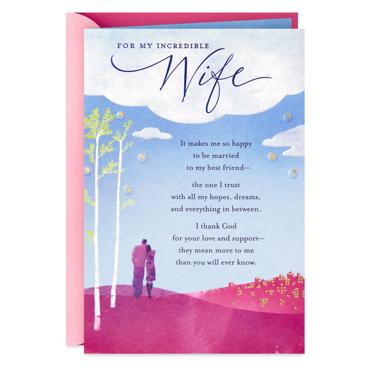 I Thank God For You Religious Birthday Card For Wife
