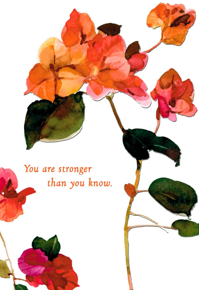 You Are Stronger Than You Know Encouragement Card