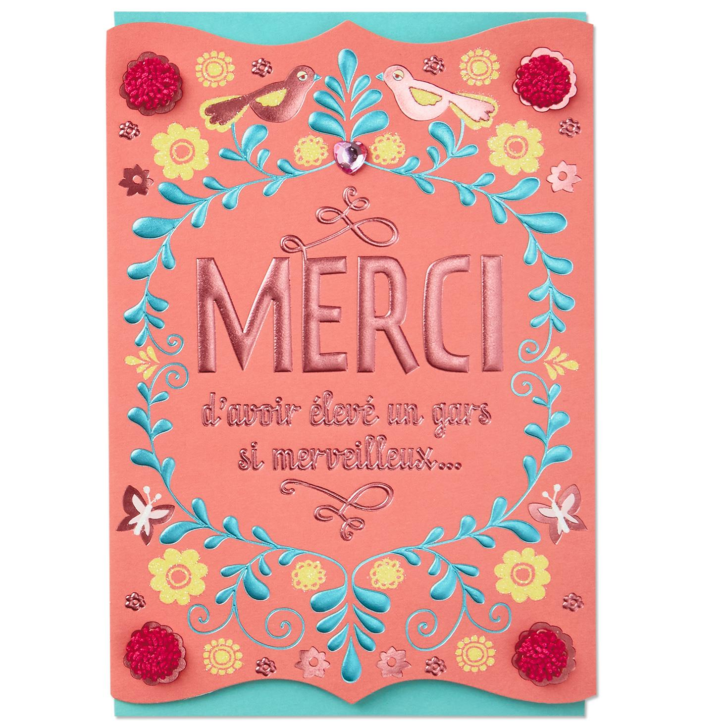 Mother In Law French Language Mothers Day Card From Daughter In Law
