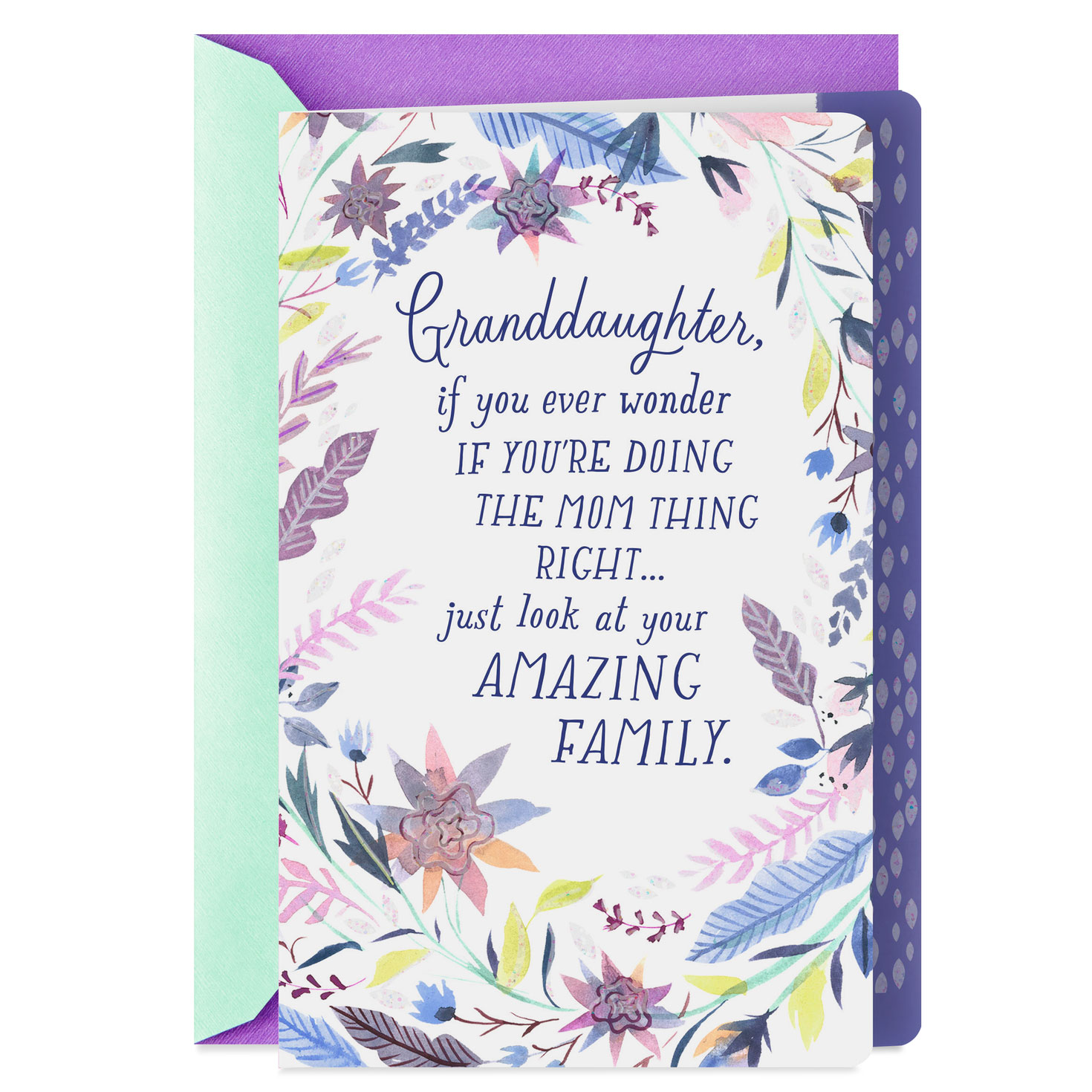 Your Amazing Family Mother's Day Card For Granddaughter