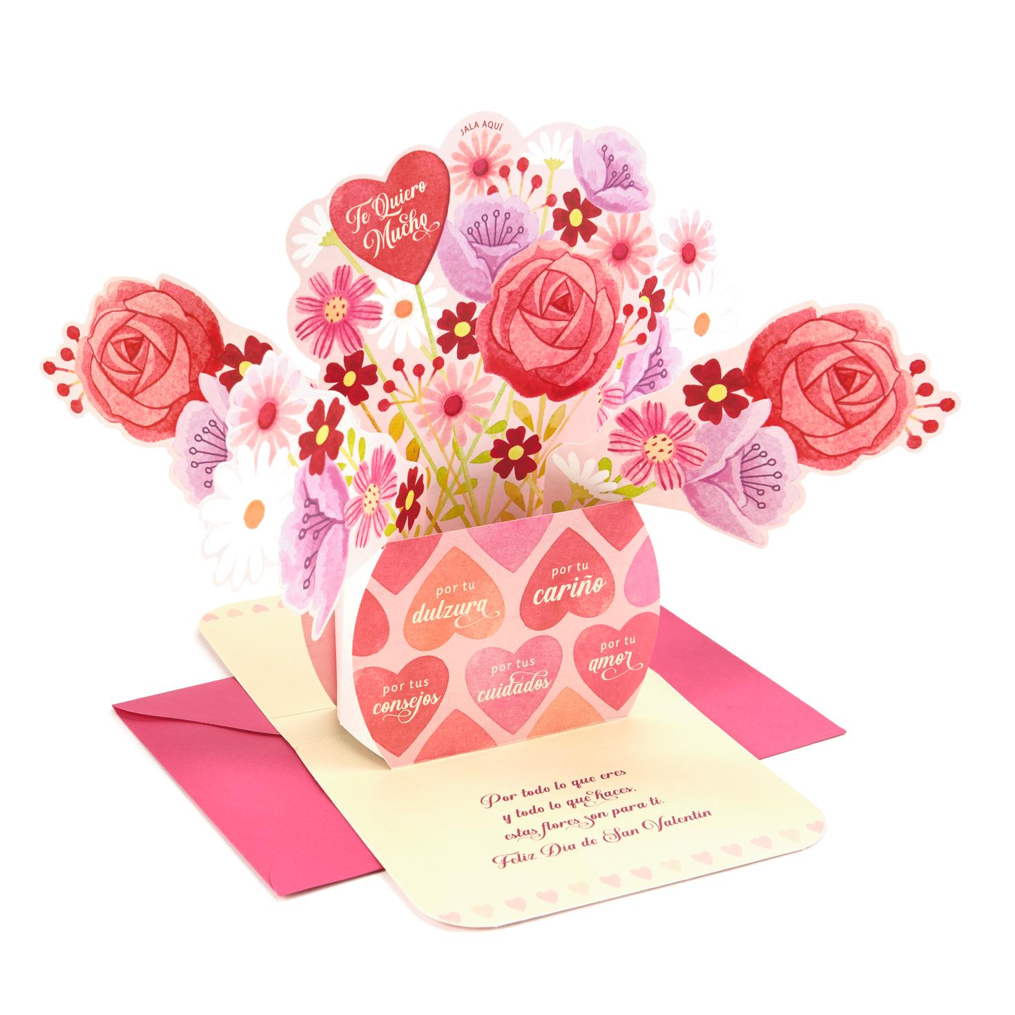 flower bouquet pop up spanishlanguage valentine's day