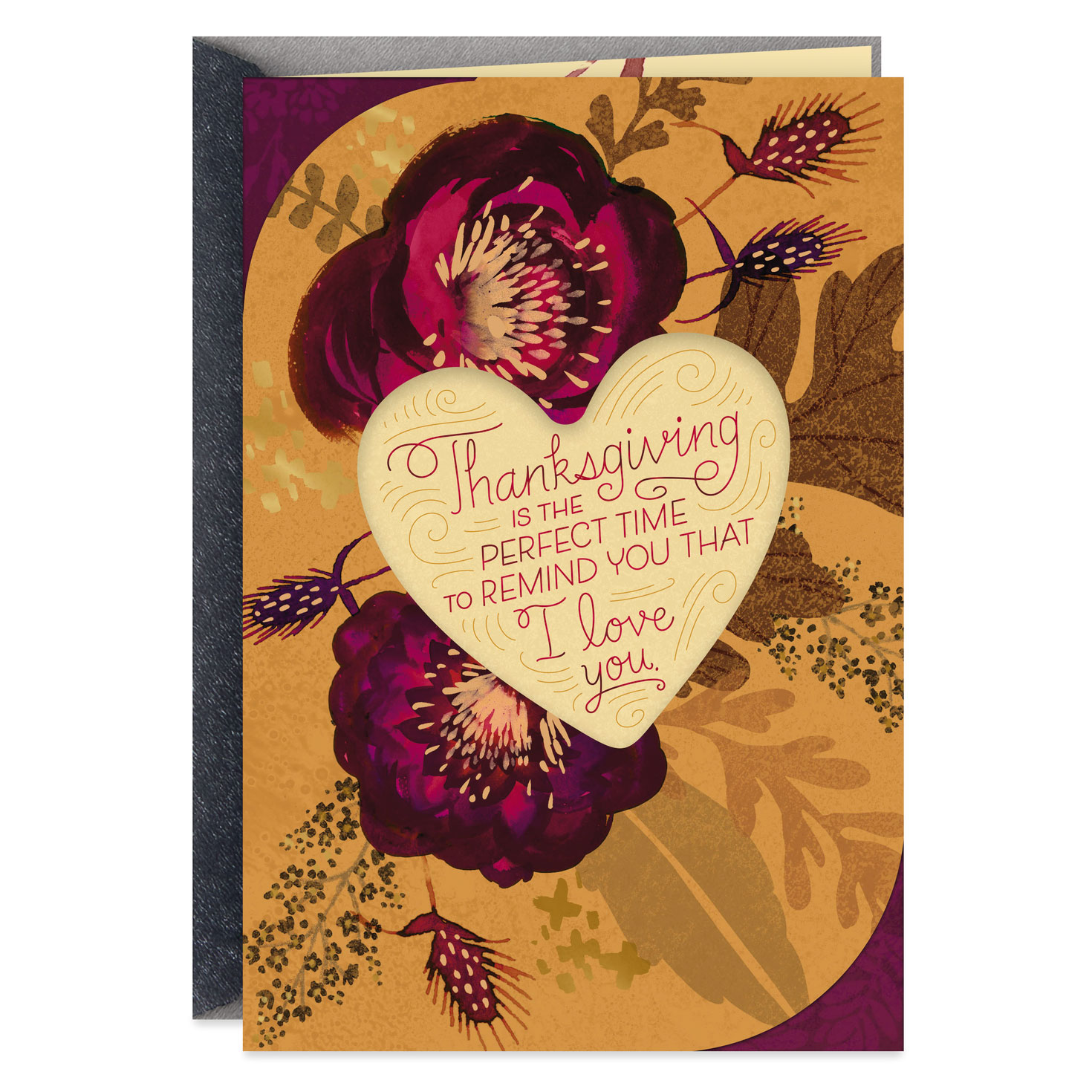 I Love You Thanksgiving Card For Wife Greeting Cards