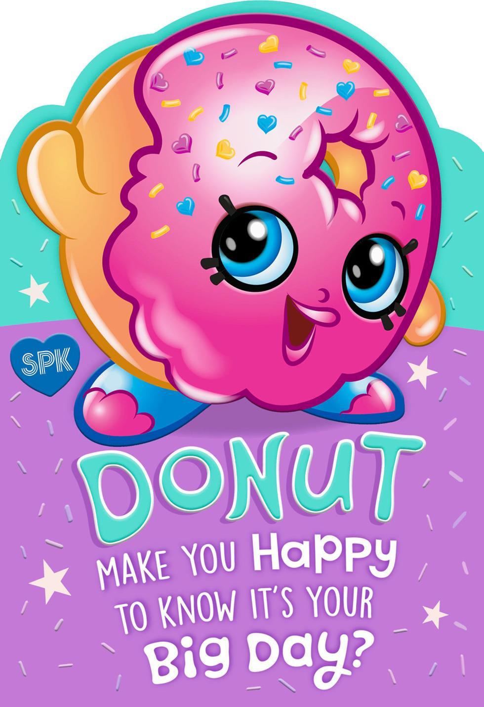 shopkins� donut make you happy kids birthday card