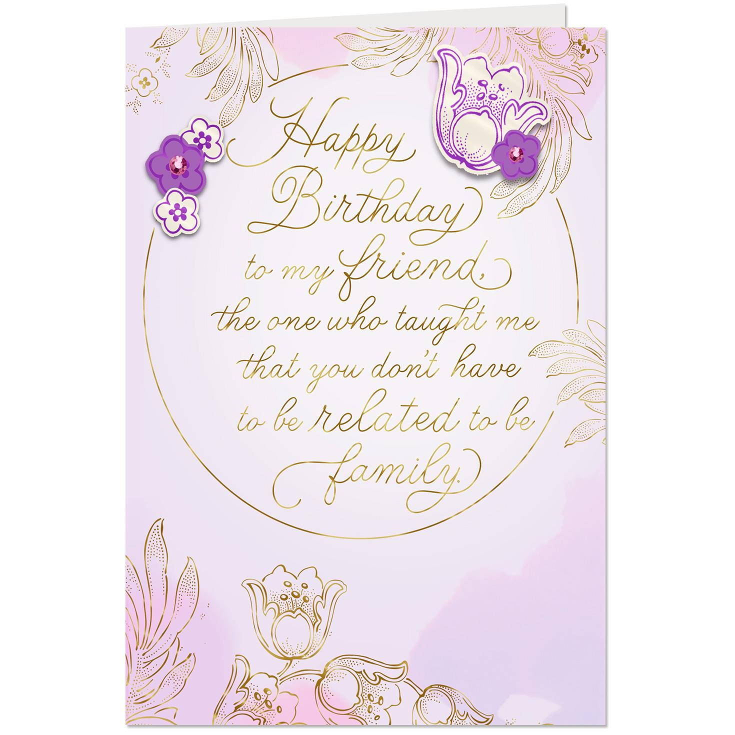 Youre Like Family Birthday Card For Friend