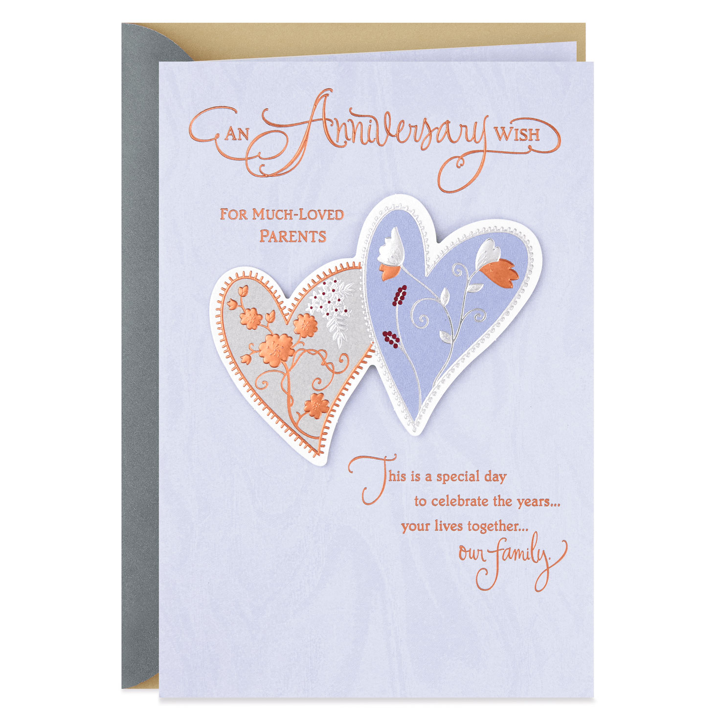 Two Hearts Anniversary Card for Parents - Greeting Cards - Hallmark