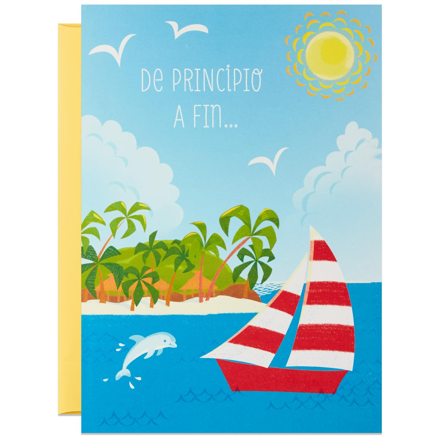 Simply Perfect Large Spanish-Language Pop Up Birthday Card