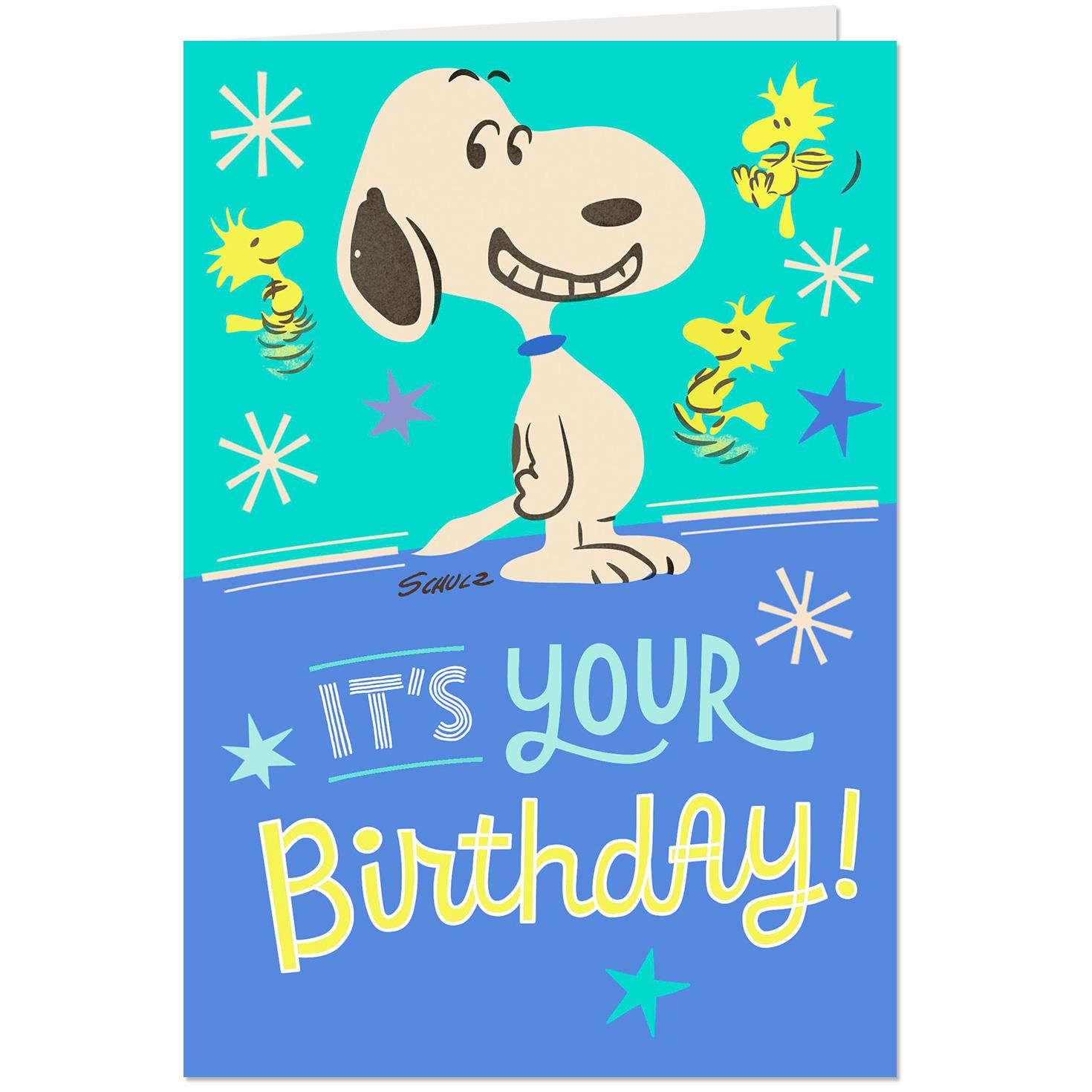 Peanuts® Snoopy And Woodstock Happy Dance Musical Birthday