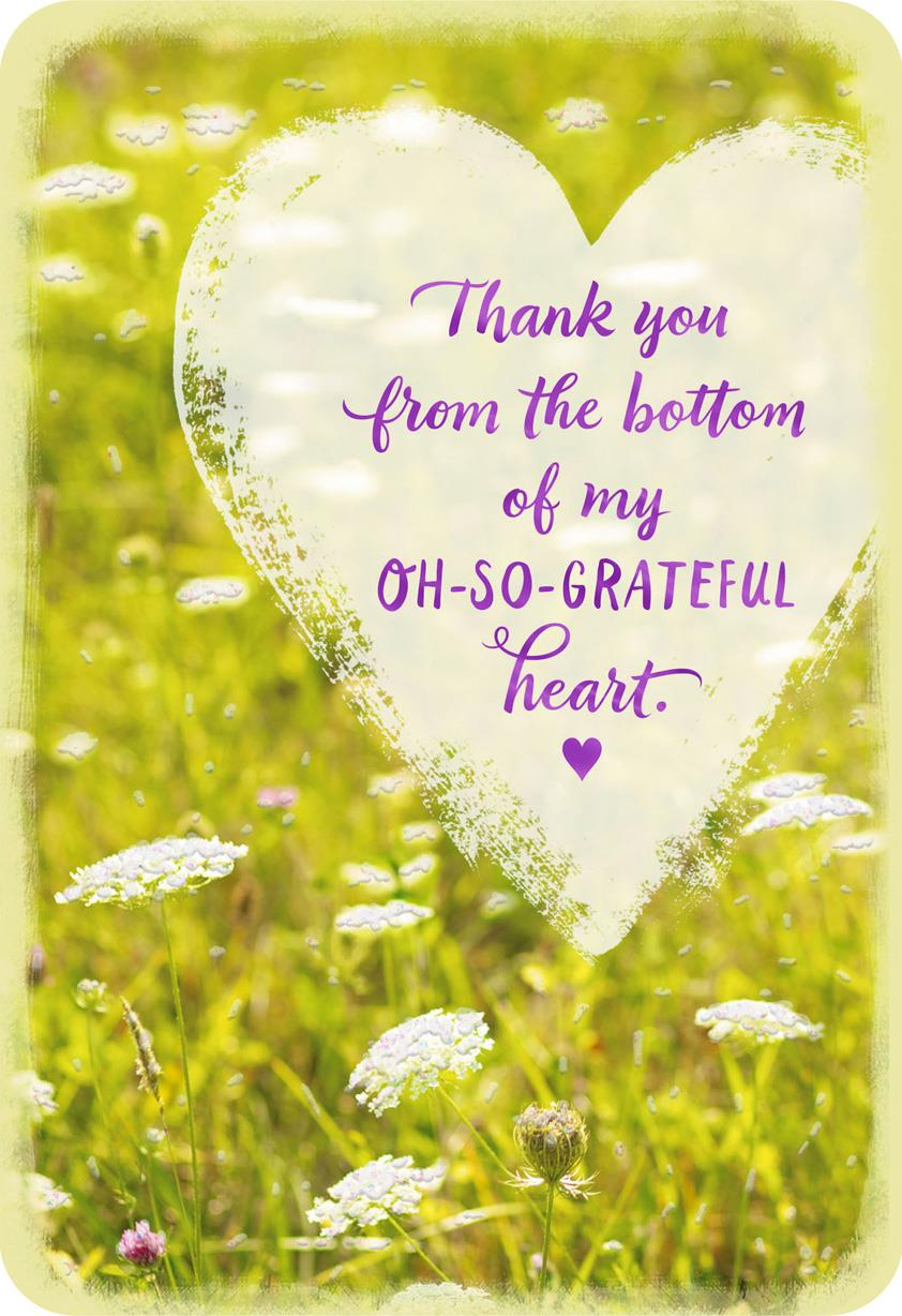 From The Bottom Of My Heart Thank You Card Greeting