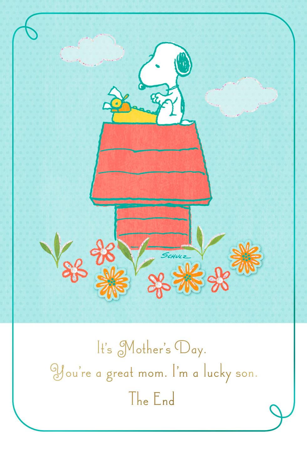 Peanuts® Mother's Day Card From Son | Tuggl