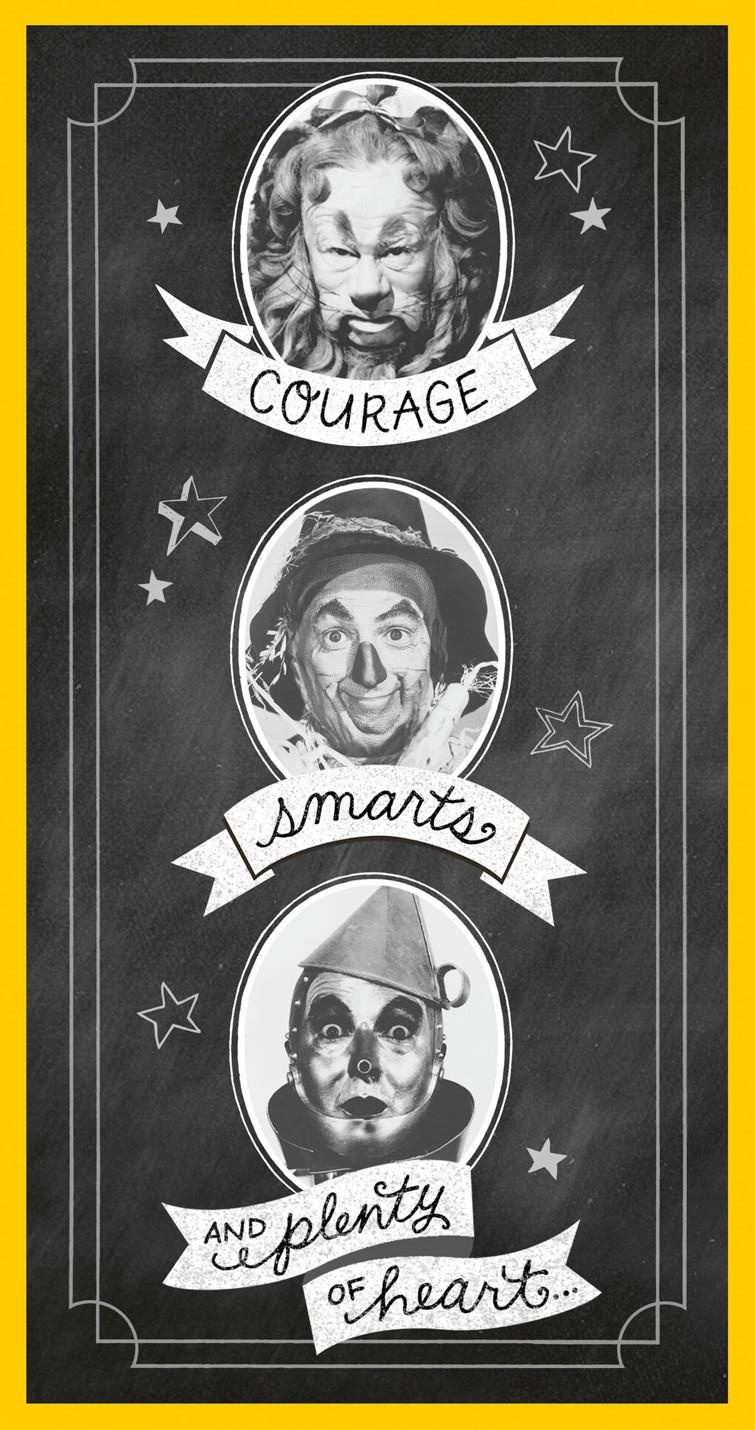 The wizard of oz courage smarts and heart graduation money holder the wizard of oz courage smarts and heart graduation money holder card bookmarktalkfo Image collections