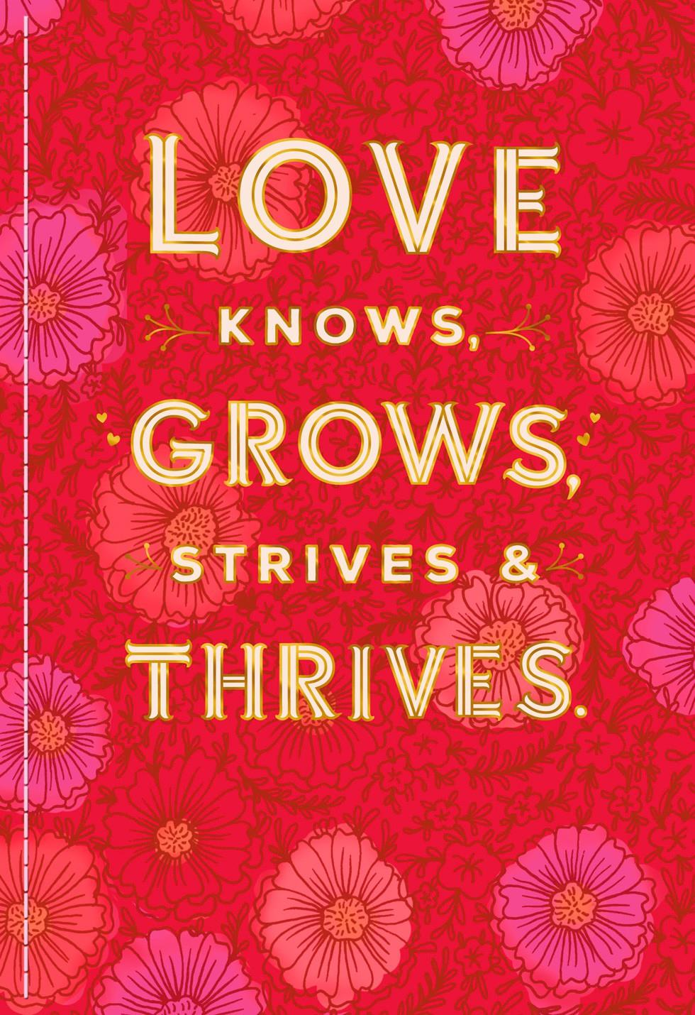 love thrives valentine's day card for someone special
