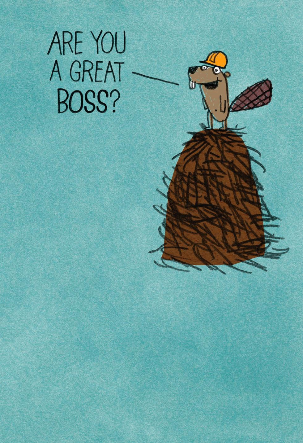 beaver builder funny boss u0026 39 s day card