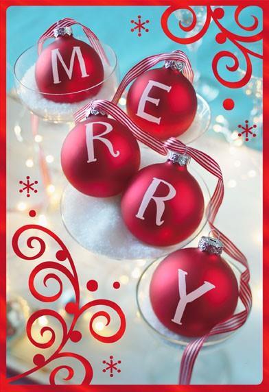 Merry Ornaments Christmas Card Greeting Cards Hallmark