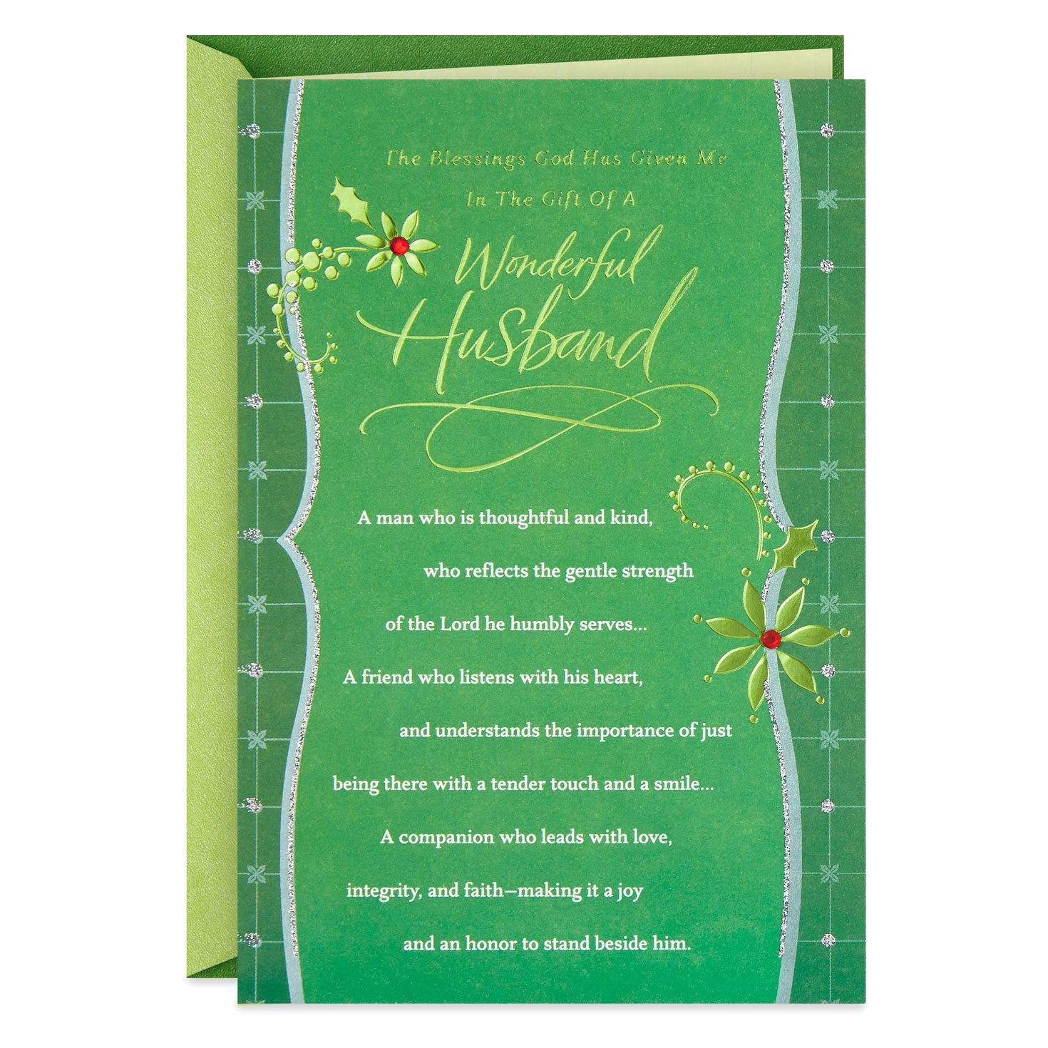 Blessings From God Religious Christmas Card For Husband