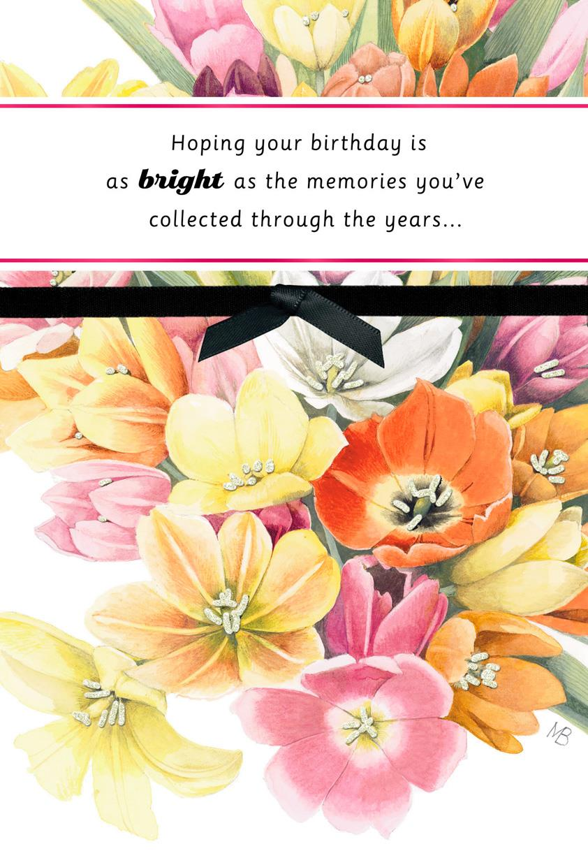 marjolein bastin collected memories birthday card