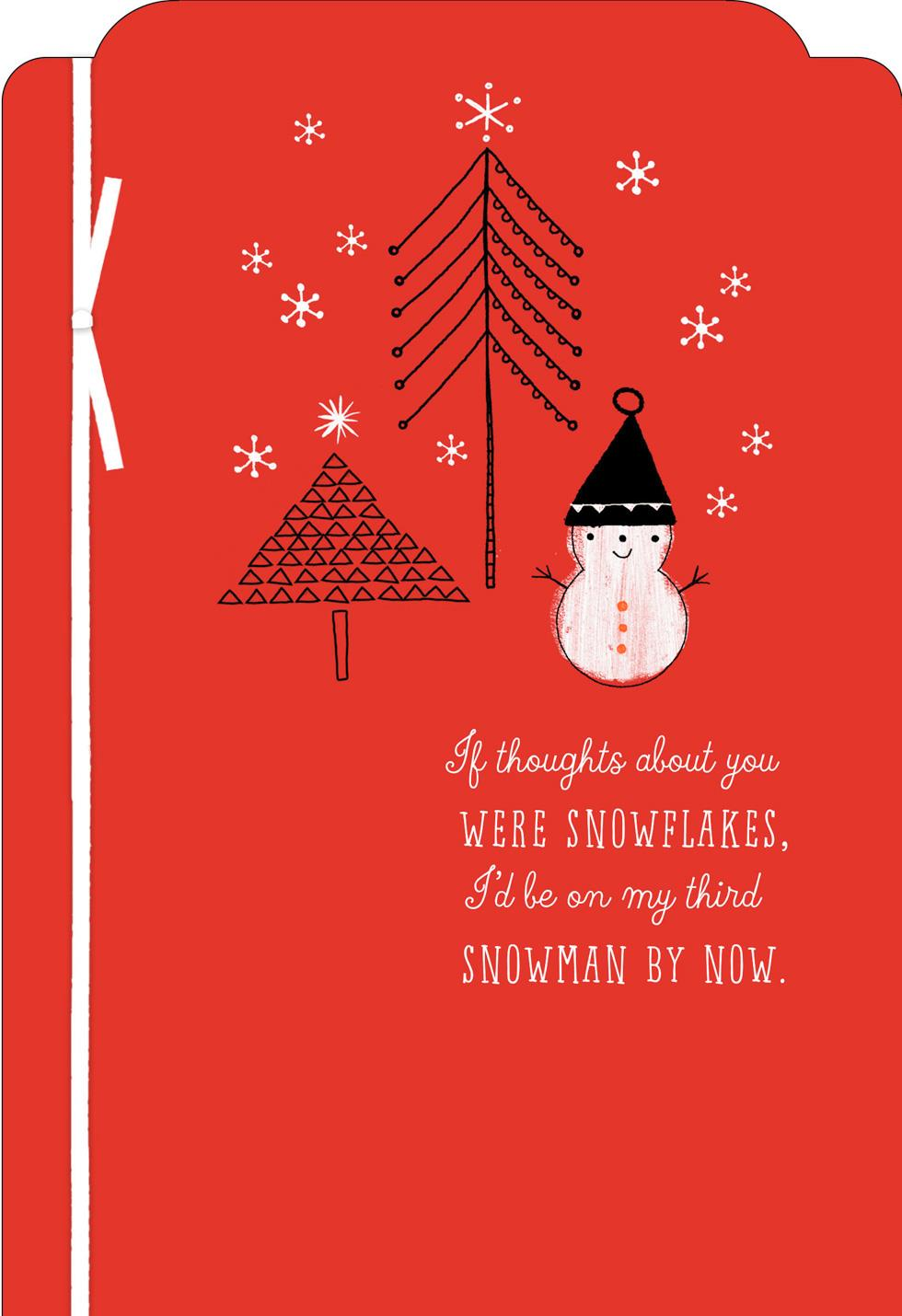 Snowman Thinking Of You Christmas Card Greeting Cards Hallmark
