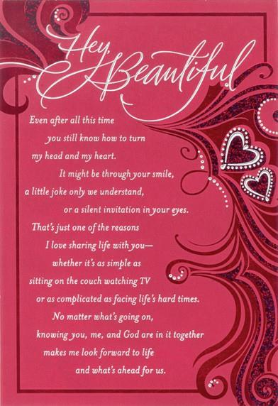beautiful wife religious valentines day card - Religious Valentine Cards