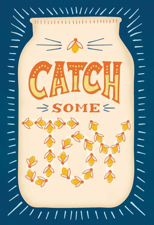 Catch Some Joy Fireflies Blank Card Greeting Cards Hallmark