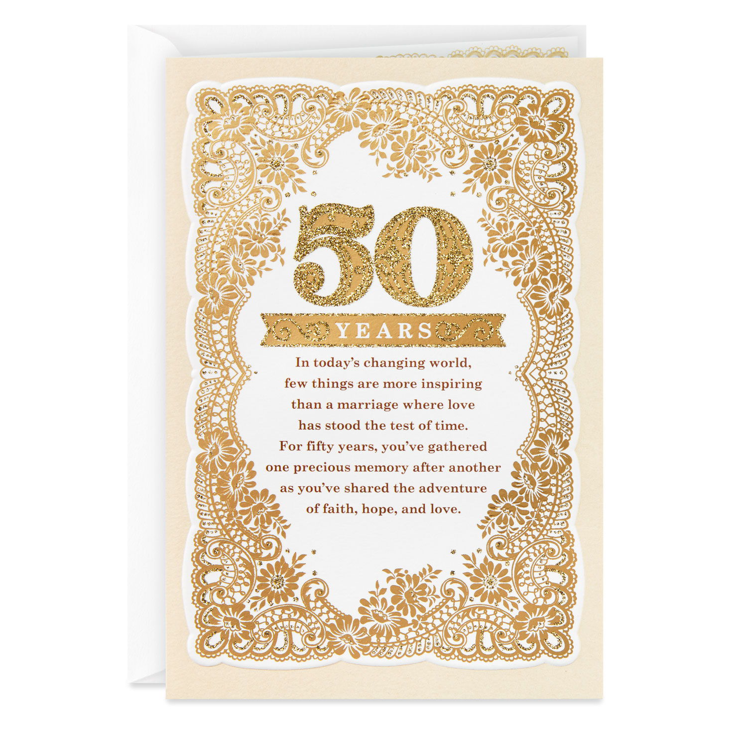 Hallmark Wedding Anniversary Gifts: The Beauty Of God's Gift Religious 50th Anniversary Card