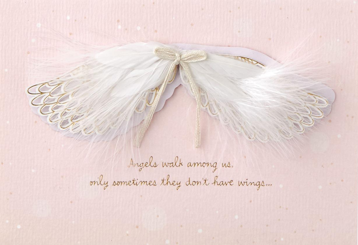 angel wings mother u0026 39 s day card - greeting cards