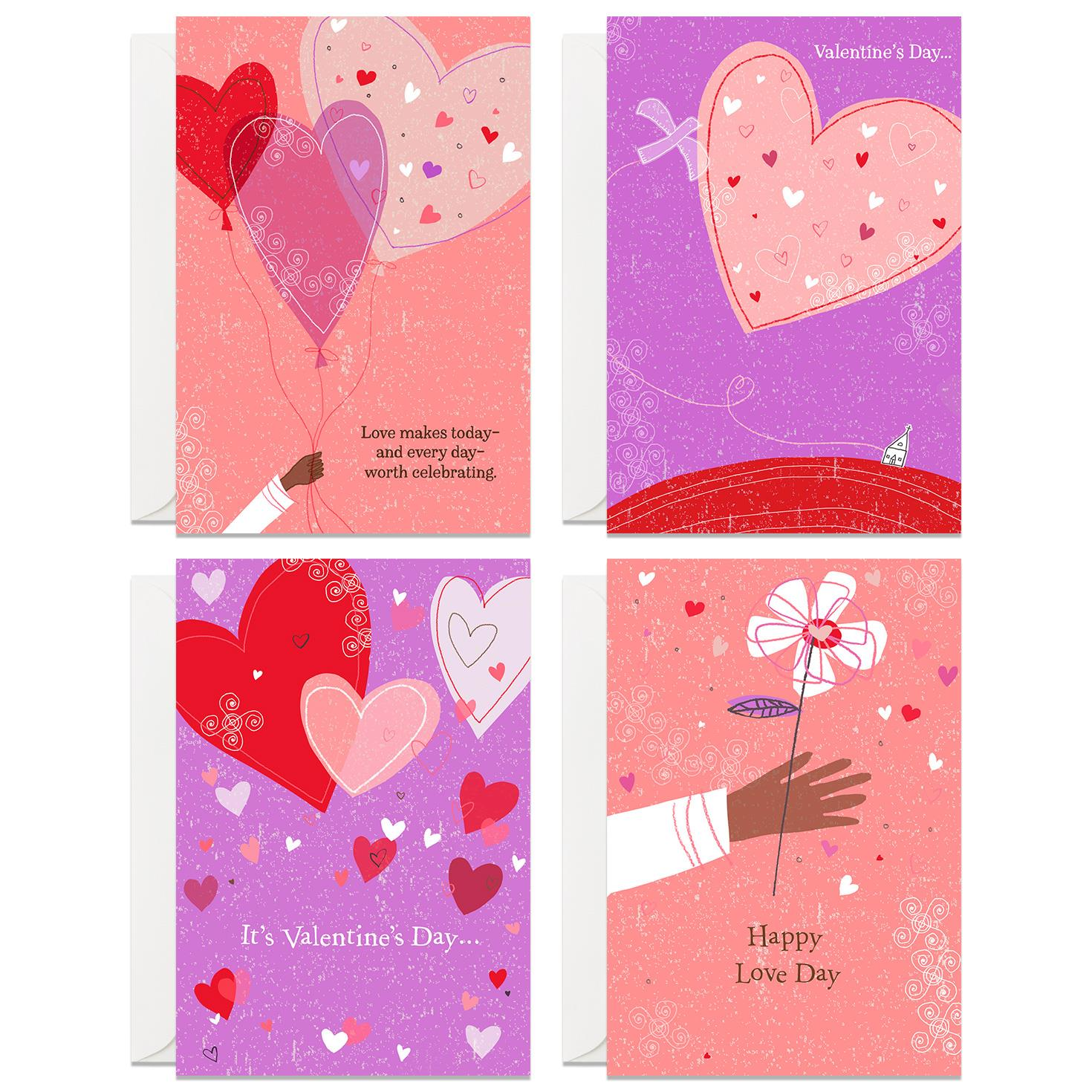 Valentines Day Cards for Family and Friends Pack of 8  Boxed