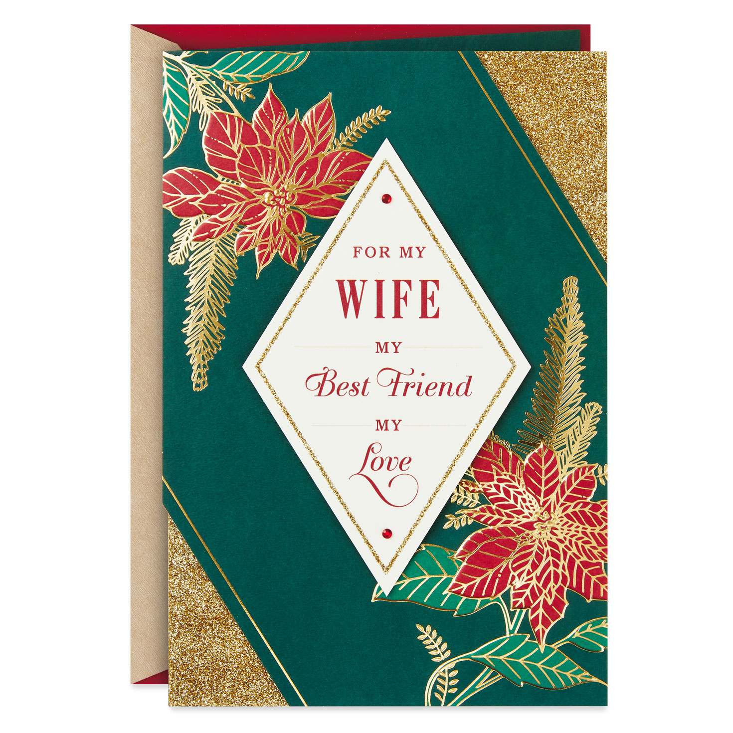 my wife my best friend my love christmas card  greeting