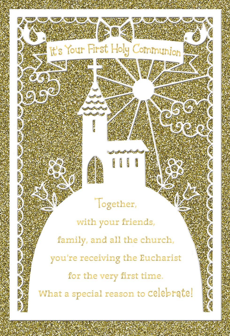 On your first holy communion card greeting cards hallmark on your first holy communion card kristyandbryce Choice Image
