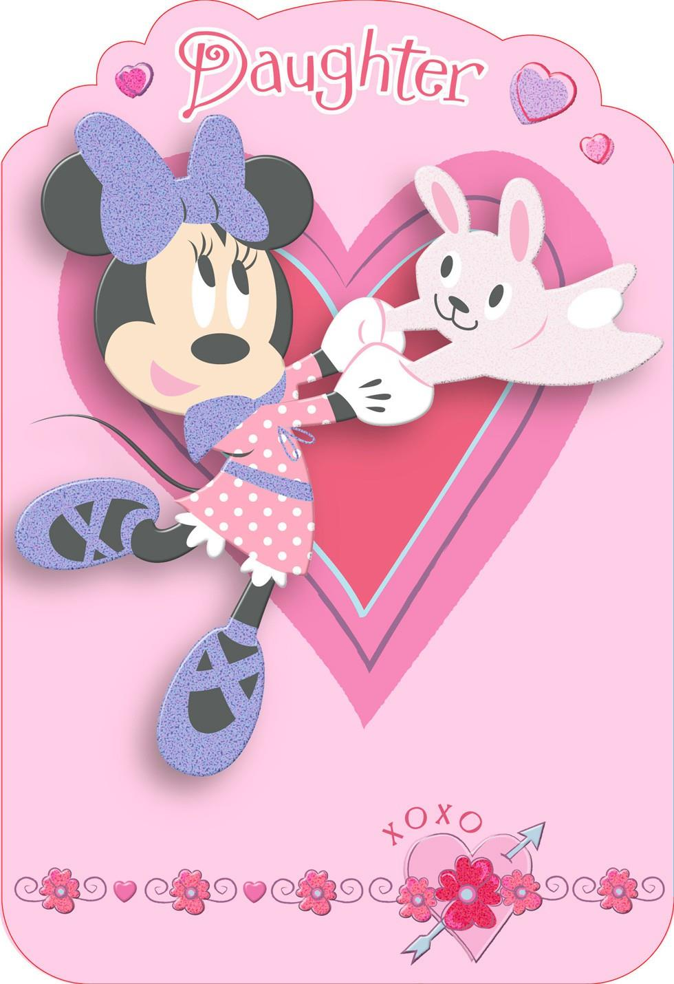 disney minnie mouse fun daughter valentine u2019s day card