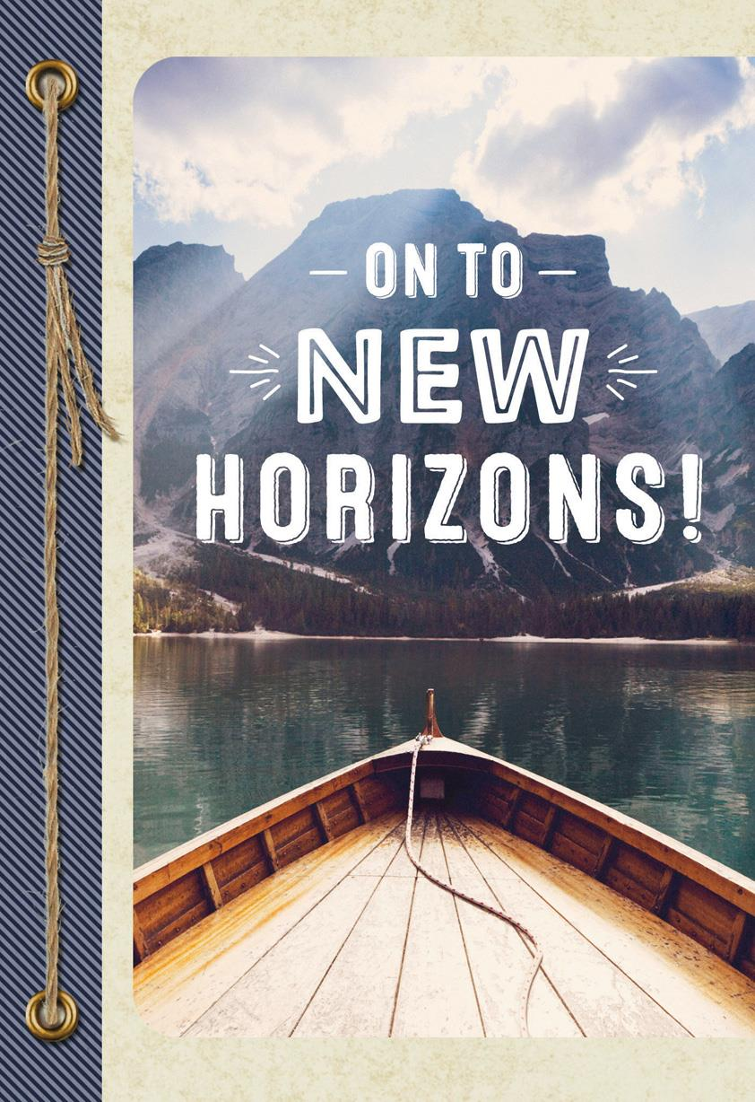 on to new horizons new job congratulations card
