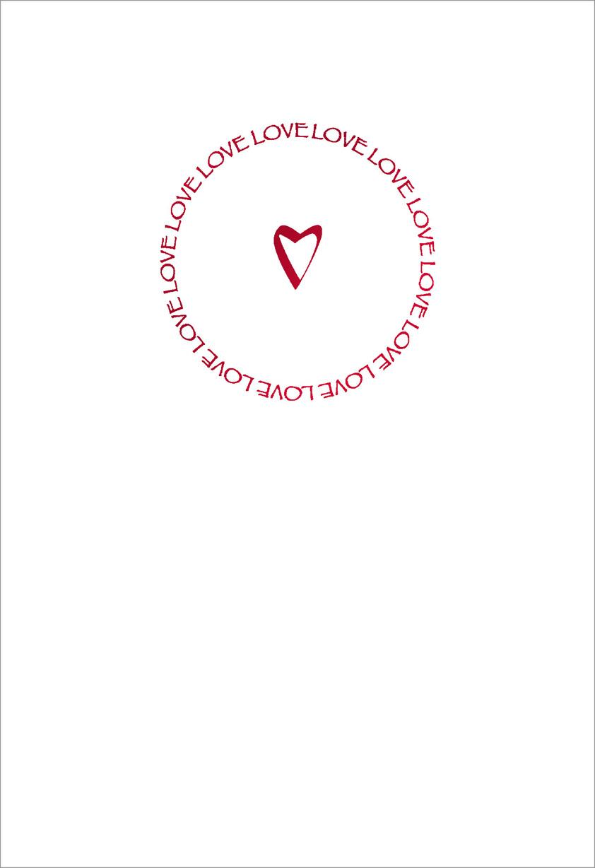 Circle Of Love Romantic Valentines Day Card Greeting