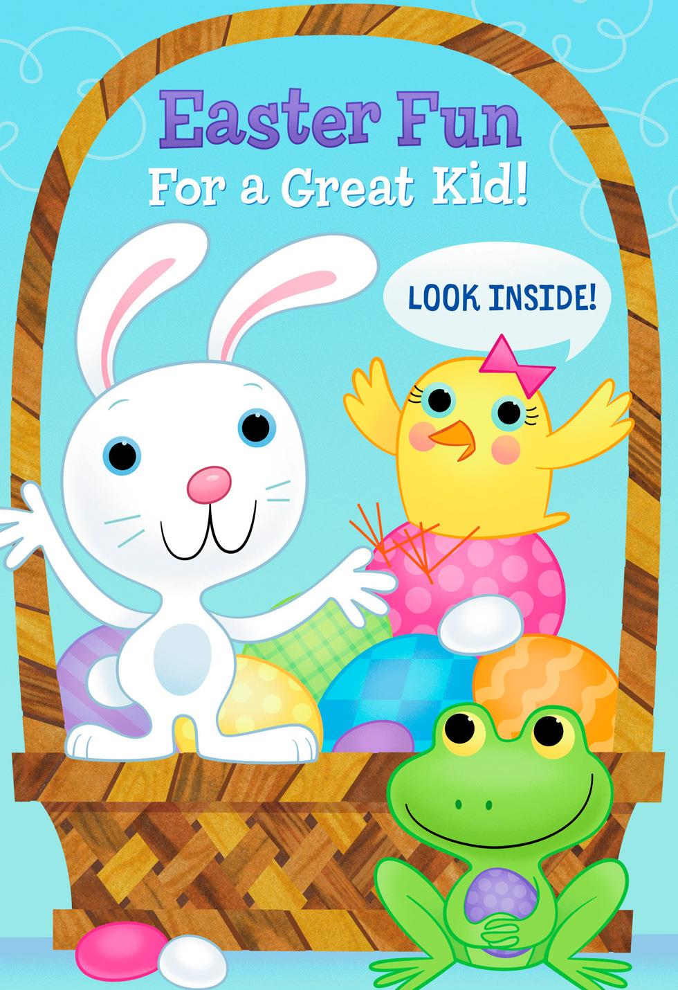 Fun And Games Kid S Activities Easter Card Greeting
