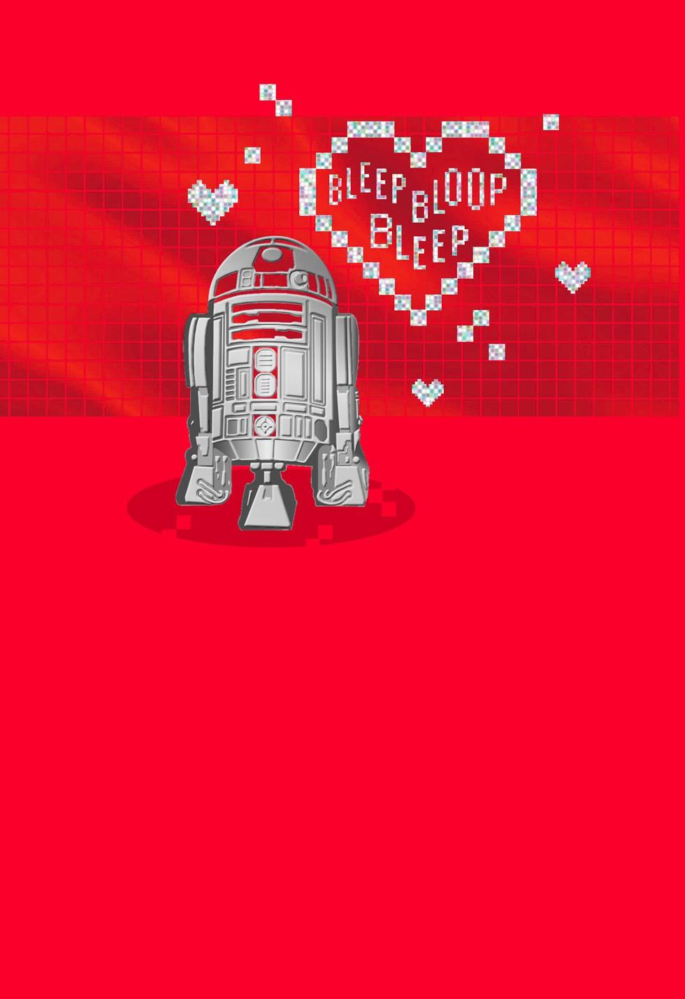 Star Wars R2D2 Droid Love Message Valentines Day Card – Valentine Card Love Messages