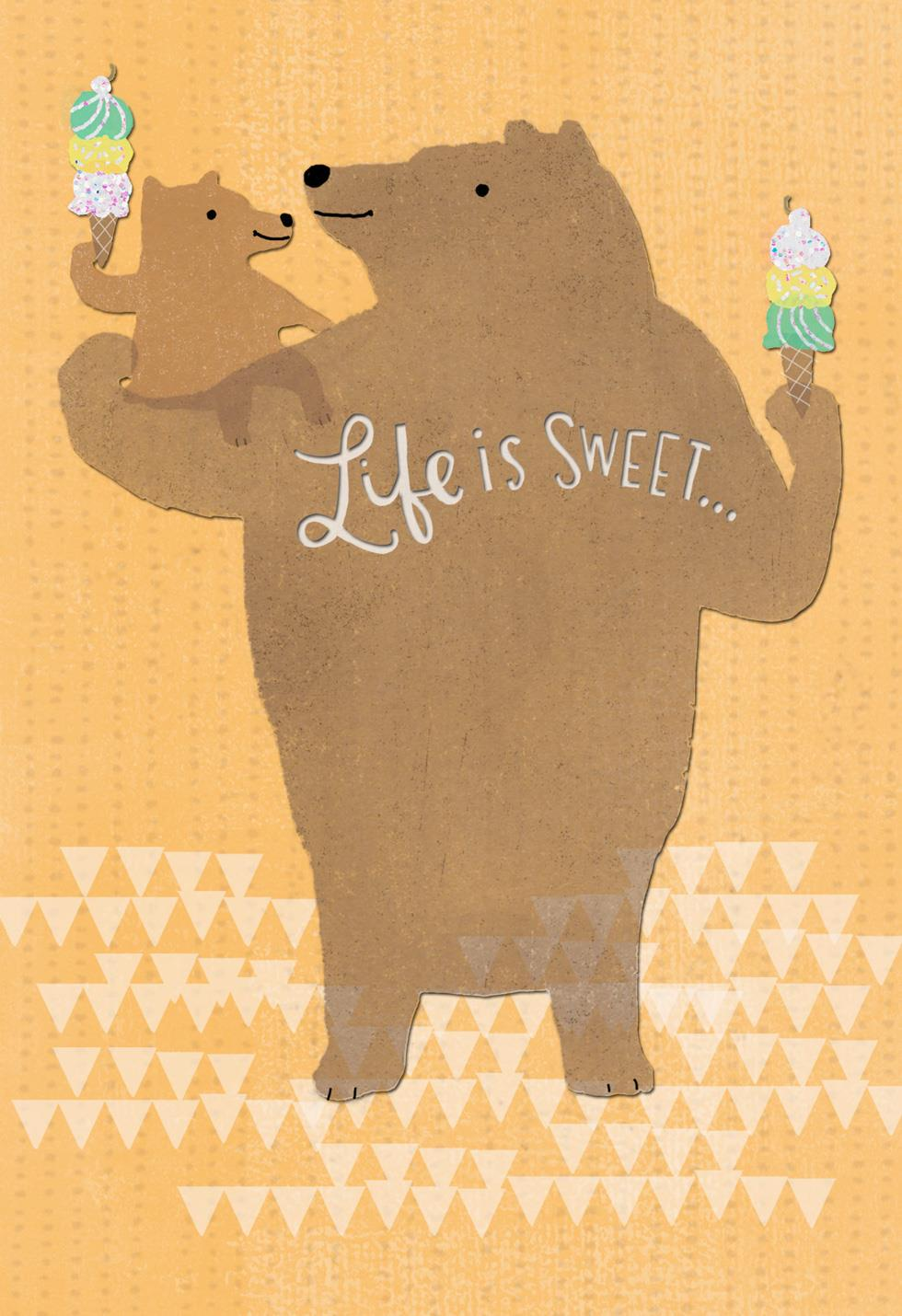 big and little bear father u0026 39 s day card for great