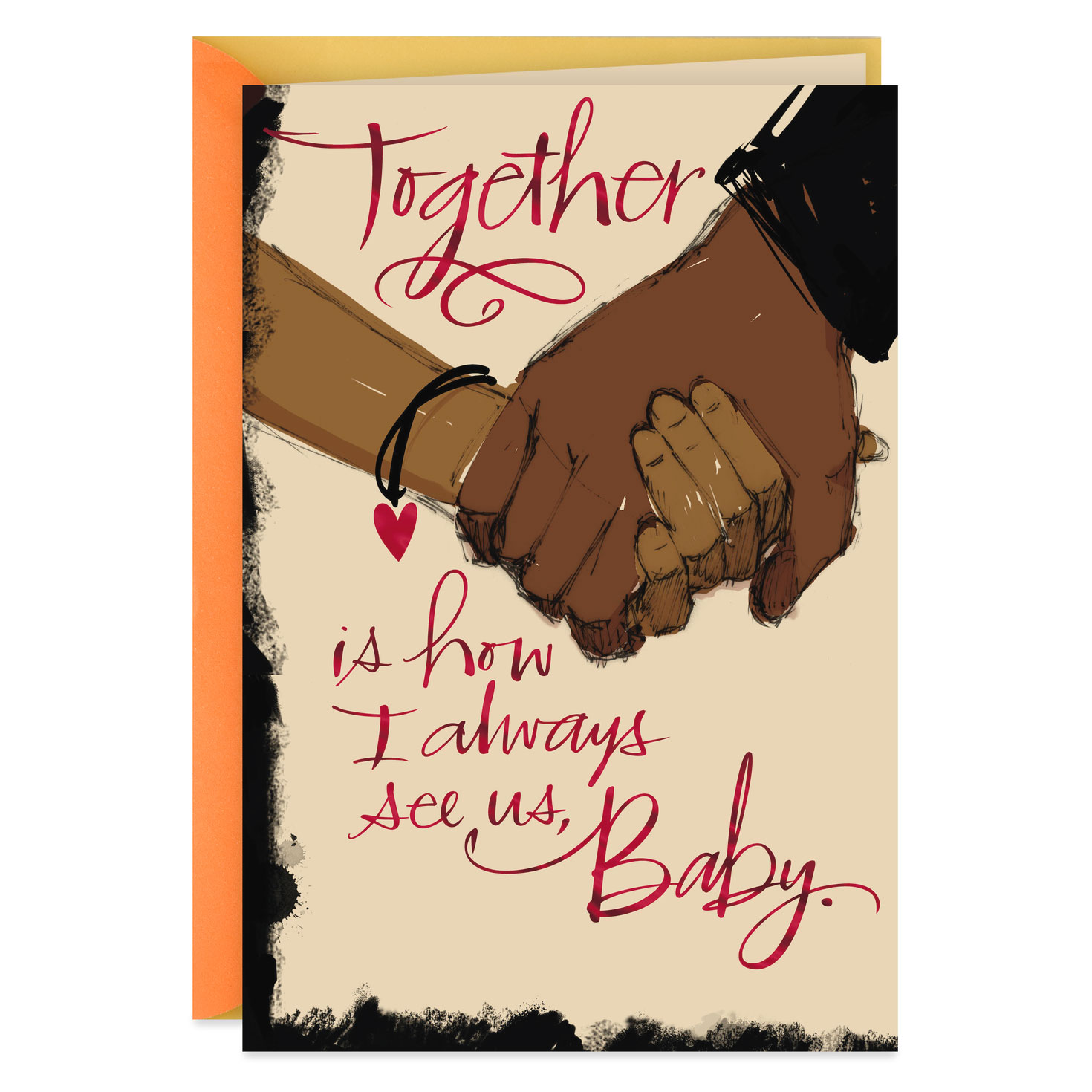 always together baby romantic love card  greeting cards