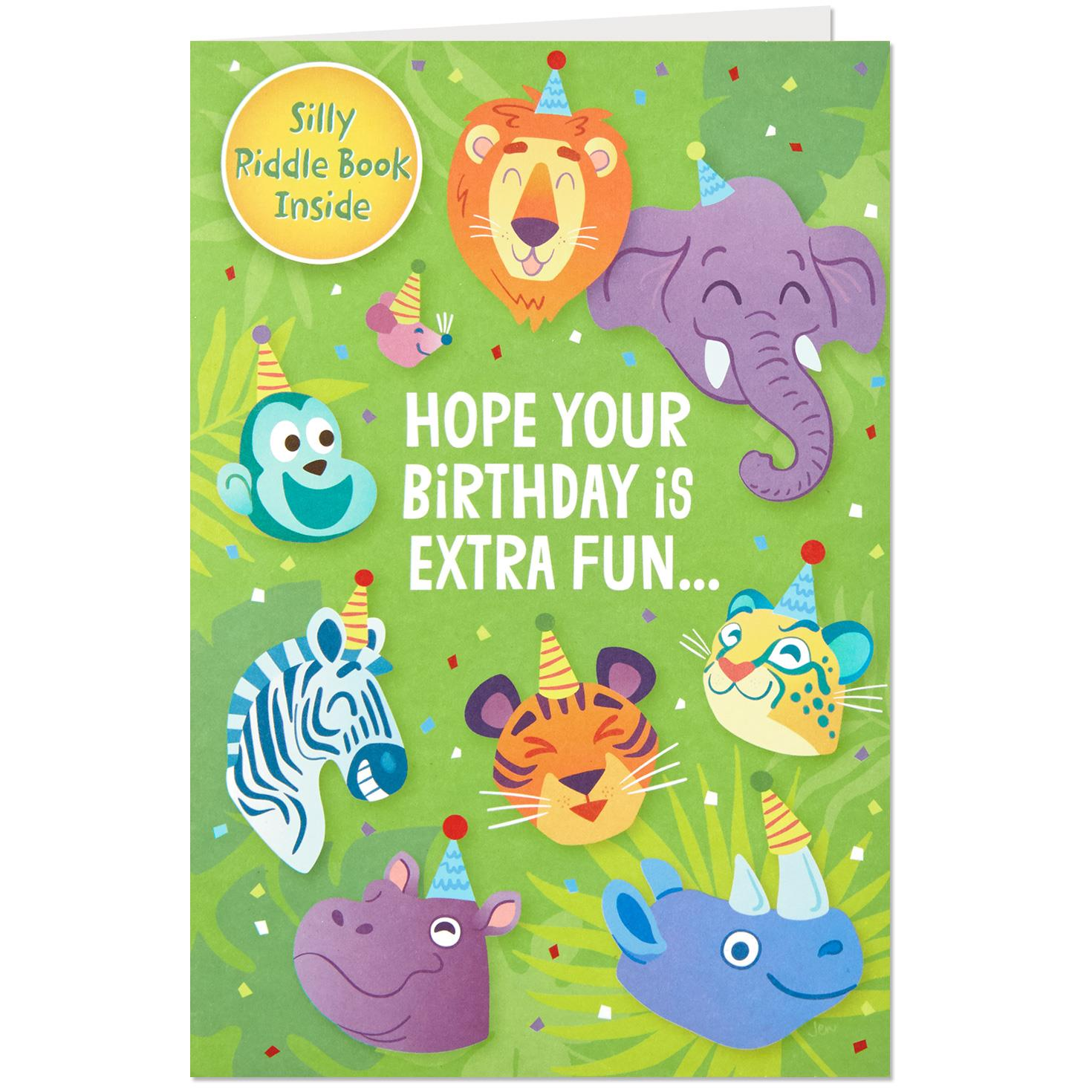Extra Funny Birthday Card With Riddle Book