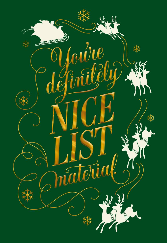 Nice list material christmas card greeting cards hallmark nice list material christmas card m4hsunfo