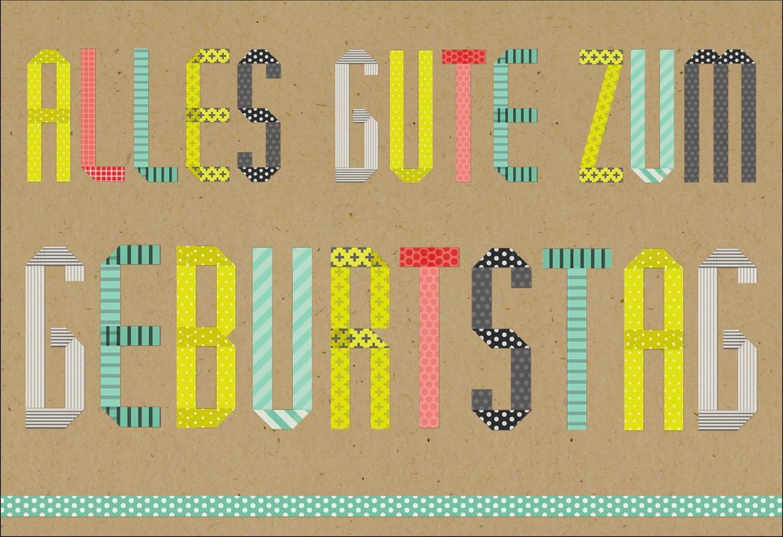 Alles Gute zum Geburtstag GermanLanguage Birthday Card Greeting – How to Do Birthday Card