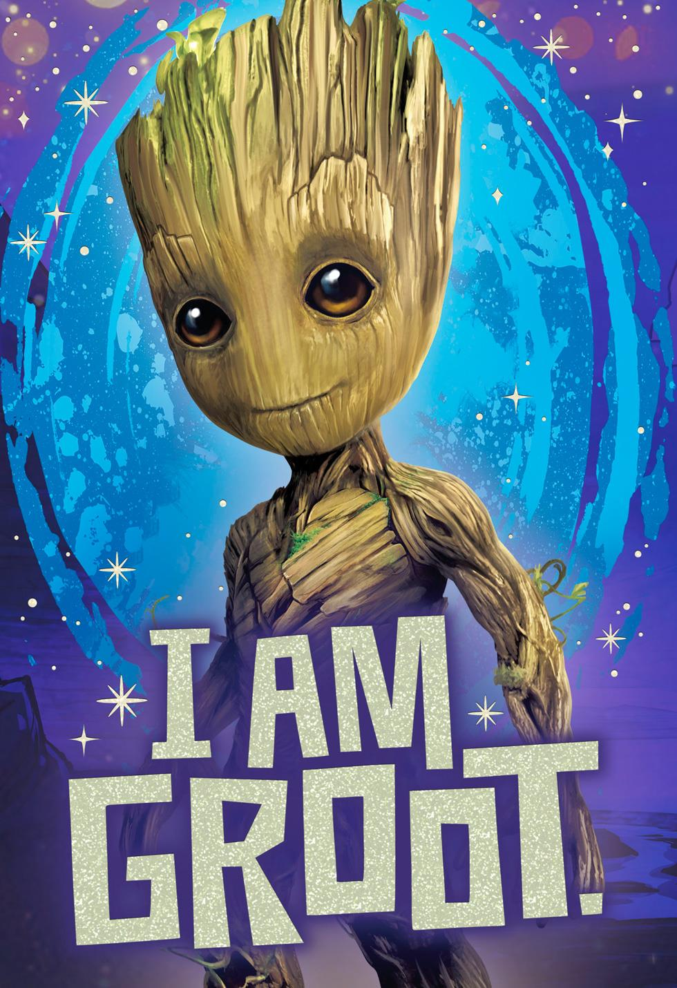 Guardians Of The Galaxy Groot Birthday Card Greeting